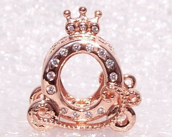 Shining Crown, Carriage, Pandora Rose, Bracelet Charm, China Exclusive, Elegant, Slider, Crown Logo, Dazzling CZ