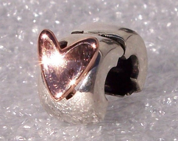 Freehand Heart Clip, Pandora Rose, Bracelet Charm, 925, Rose Gold, Gently Moves, Freedom To Love, Touch Of Love, Two Tone, 2020