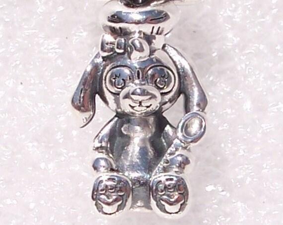 COOKIE, Duffy's Friend, Baker, Chef Hat, Pandora Disney, Wooden Spoon, Mickeys Icon, Paws, Bracelet Charm, Hong Kong, Disneyland Exclusive