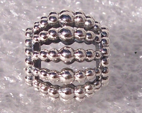 Beaded Openwork, Pandora, Bracelet Charm, 925, 3 Dimensional, Sophisticated, Elegant, Texture, Bold Look, Statement, Varying Sizes