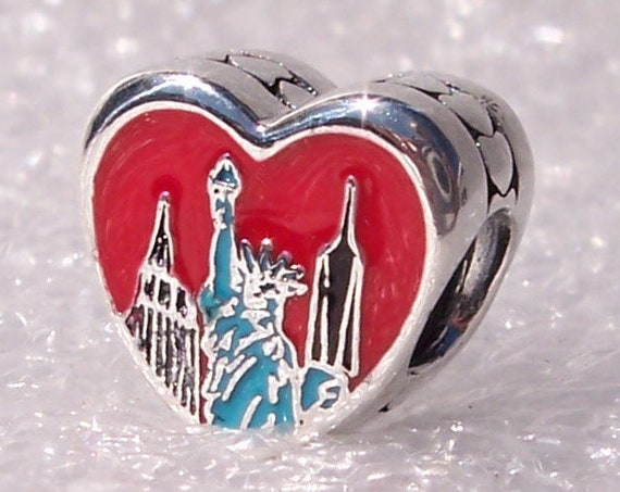 New York City, Pandora, United We Stand, Bracelet Charm, Heart, Enamel, Travel, Memories, Exclusive, Sterling Silver, NYC 2019