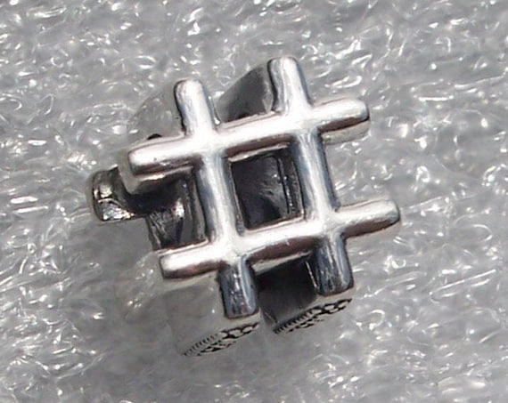 Hashtag Symbol, #Pandora, #Bracelet Charm, #Emphasis, #, #Punctuating, #Master The Art,  Silver,