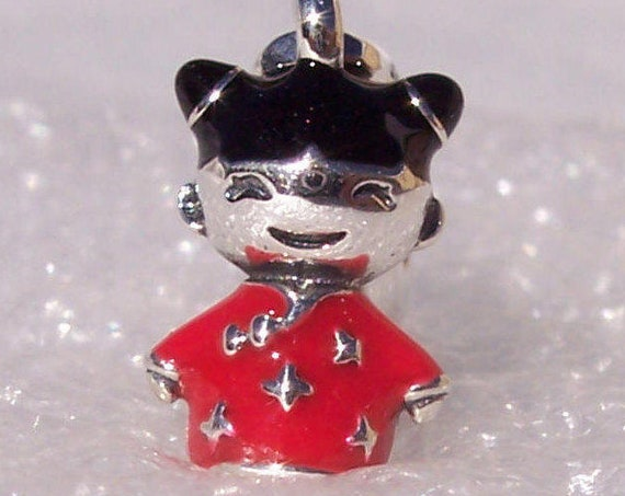 Chinese Doll, Pandora, Bracelet, Asian Exclusive, Chinese New Year, Sterling Silver, Good Luck Charm, Sweet Face, Red China Lucky, Enamel