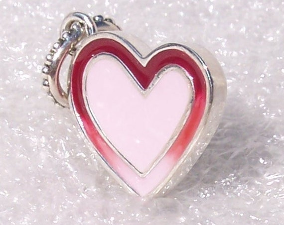 Pandora, Asymmetric, Heart of Love, Bracelet Charm, Mixed Enamel, Dangle, Ombré Effect, Timeless Elegance, Sterling Silver