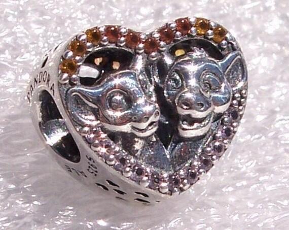 Sparkling Simba, Nala, The Lion King, Pandora Disney, Bracelet Charm, Tonal Crystals, Friendship, Love, Heart, Slider, Heartwarming, Silver