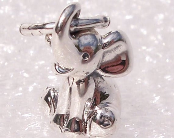 Elephant, Pandora, Bracelet Charm, Trunk Up, Good Luck, Power, Success, Wisdom, 2019, Animal, Nature, Travel Memories, Silver, Gentle