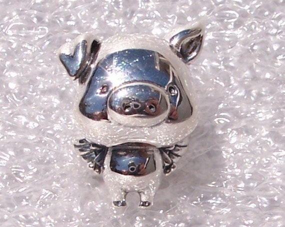Pippo, The Flying Pig, Pandora, Bracelet Charm, Family Friend, Oversized Head, Dream Big, Silver, Trust Yourself, Believe, Fall 2019