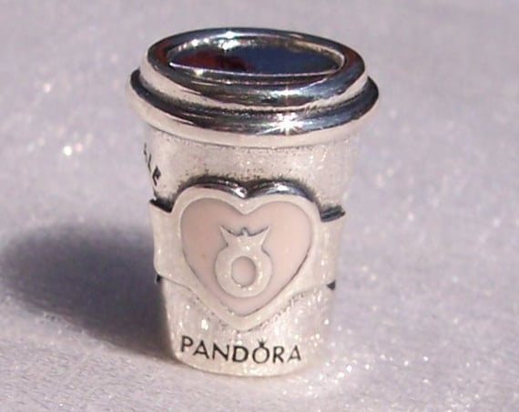 Drink To Go, Pandora, Bracelet Charm, Pink Enamel, Silver, Energy, Time with Friends, Takeaway Coffee, LOGO, Everyday Rituals, Indulgences