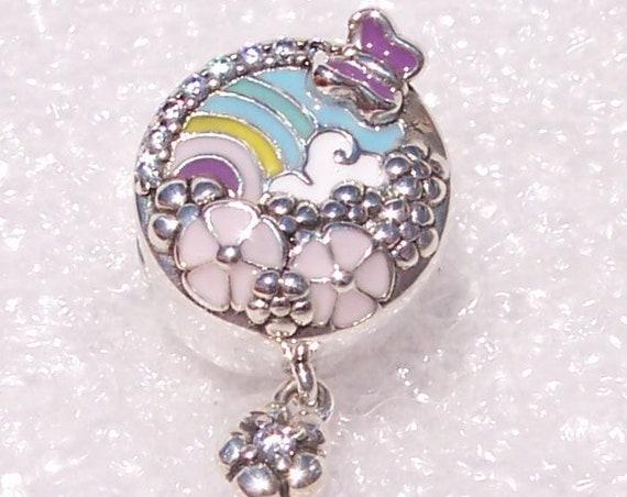 Flower Color Story, Pandora, Bracelet Charm, Enamel, Decorative, Rainbow, Gardenscape, CZ, Dreamy, Butterfly, Spring 2019, Seasons, Dangle