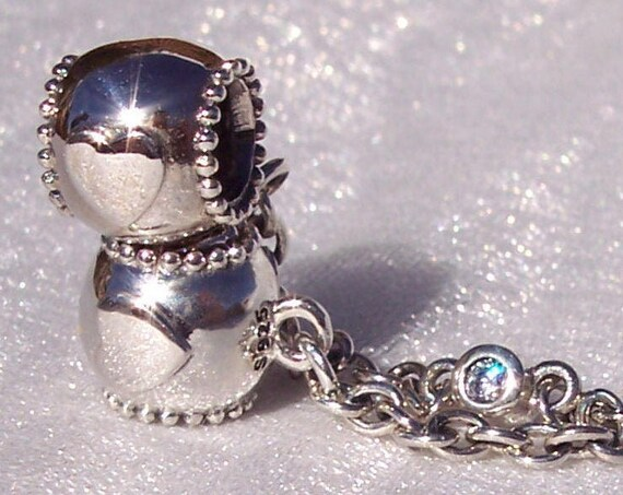 Embossed Hearts, Safety Chain, Pandora, Bracelet Charm, UK Exclusive, Sterling Silver, Clear CZ, Safe Keeping, Dazzle, Beaded Edges, LOVE