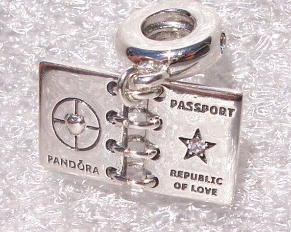 Passport, Republic of Love, Pandora, China Exclusive, Bracelet Charm, 925, CZ, Travel, Footprint Of Love, Logo, Dangle, Heart Motif, Country