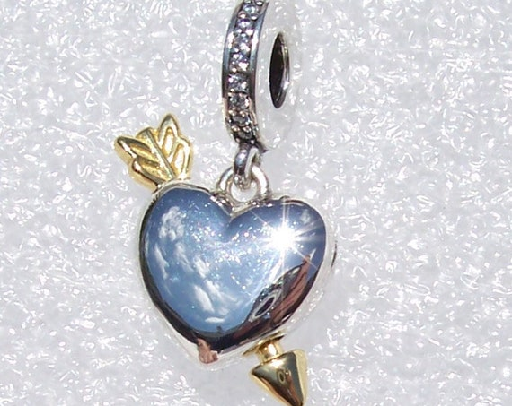 Arrow Of Love, LIMITED EDITION, Pandora, Bracelet Charm, Engraved, Anything Is Possible, Heart, Dangle, Shine Arrow, Locket