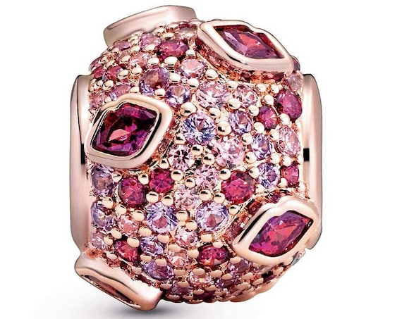 KISS Pave Charm, Pandora Rose, Limited Edition, Bracelet Bead, Fairytale Pink, Red CZ,Lover, Pucker UP, Explosion Of Color, Lips,Slider,2020