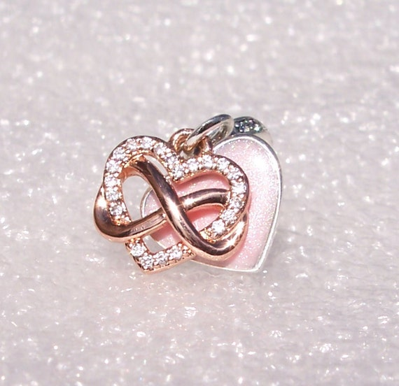 Sparkling Infinity, CZ Heart Charm, Pandora Rose, Bracelet Bead, Dangle, Pink Enamel, Family, Wife, 2020, Mothers Day, Forever,Always