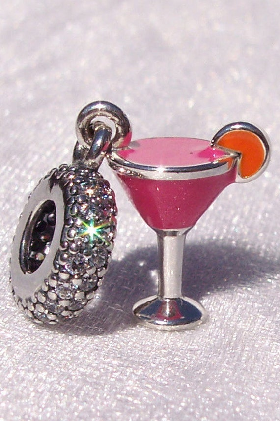 FRUITY COCKTAIL, Pandora, Bracelet Charm, Night Out, Cocktail Time, Girls Night Out, Vacation, Sterling Silver, Enamel, Dangle, CZ, Dazzling