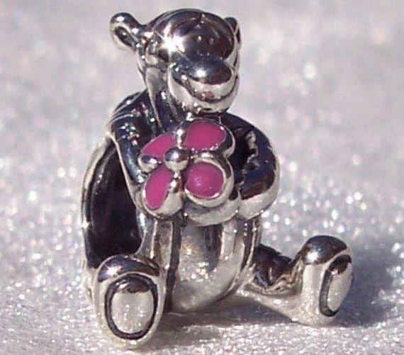 Tigger, Pandora Disney, Bracelet Charm, Bouncy, Character, Sterling Silver, PINK Enamel, Flower, Rambunctious