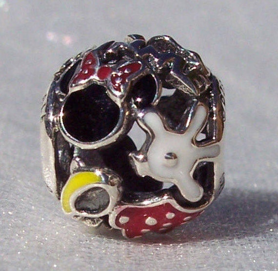 Minnie Mouse, Minnie Mania, Pandora Disney, Bracelet Charm, Body Parts, Exclusive, Resort, 925, Enamel, Slider, Iconic, Red Bow, Polka Dots