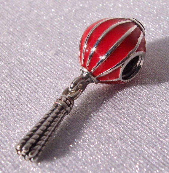 Chinese Lantern, Pandora, Bracelet Charm, Booming Life, Prosperous Business, Red Enamel, Silver, Festival, New Year, National Day, Reunion