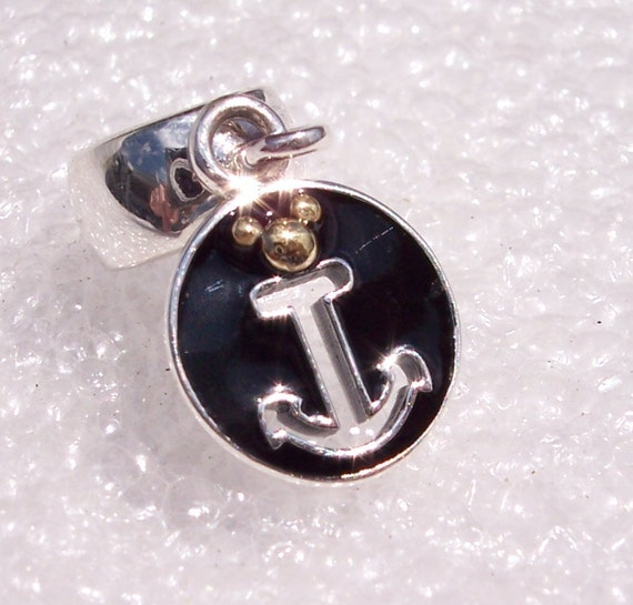 Disney Cruise Line, Anchor Charm, Pandora, Disney EXCLUSIVES, On Board, DCL Ship, Blue Enamel, Travel Memories, Gold Mickey Head, Magical