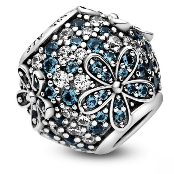 Teal Pave, Daisy Charm, Pandora, Flower Bead, 925, CZ, Icy Green Crystal, Splash Of Color, Adversity, Freedom, Spring 2020, Floral Jewelry
