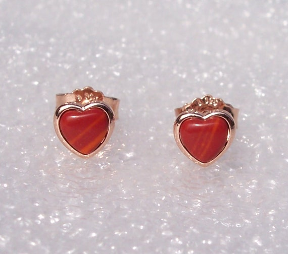 Red Murano Studs, Beautifully Different, Limited Edition,Collection,Pandora ROSE,UK EXCLUSIVE,Murano Glass,Heart Earrings,Elegant,Warm Tones