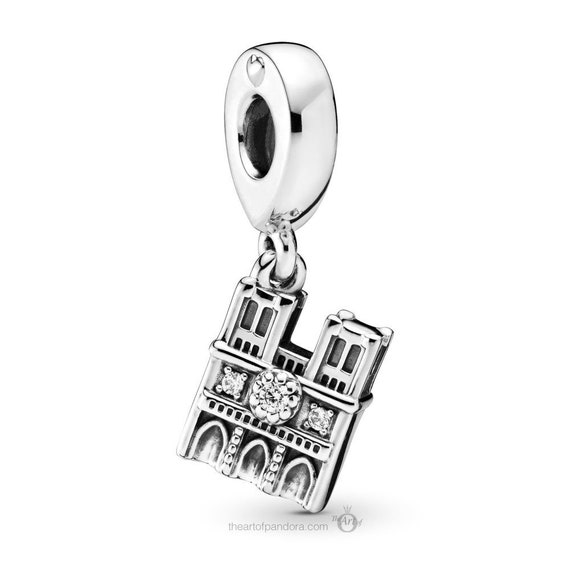 Notre Dame, Pandora, Bracelet Charm, Famous Church, Paris, Dangle, Silver, CZ, Blessed Virgin Mary, Autumn 2019, Our Lady, Travel, Memories