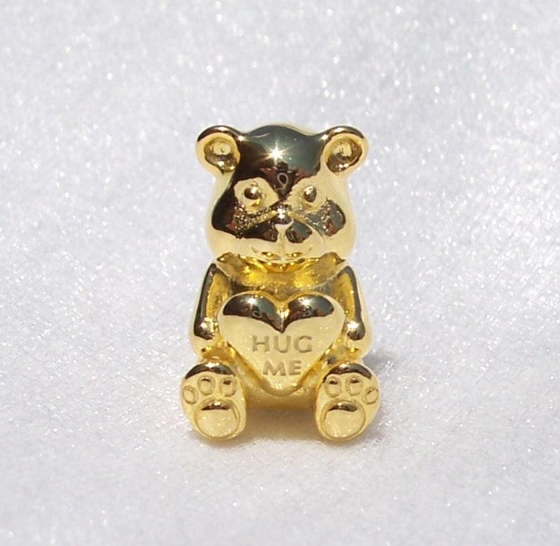 9ed1afd9502c2 Theodore Bear Charm, Pandora SHINE, Bracelet Charm, Hug Me, Cute, Sterling,  925 ALE, 2018, Clear CZ, Plated, Fall, 767236