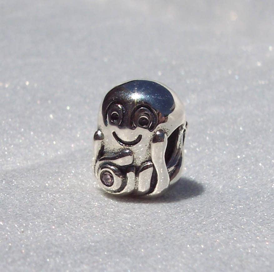 790447pcz Retired Genuine Pandora Sterling Silver Octypus Charm With A Pink Cz Charms & Charm Bracelets Fashion Jewellery