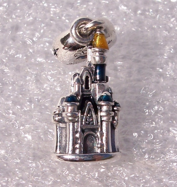 TOKYO CASTLE, Pandora, Disney Resort, Tokyo, Parks Exclusive, Bracelet Charm, Blue Enamel, Yellow, Memento, Silver, Vacation, Collection