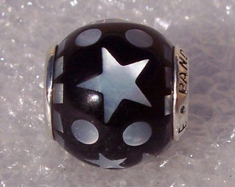 Pandora, Celestial Mosaic, Bracelet Charm, Sterling, 925 ALE, Mother Of Pearl, Inlay, Starry Night Sky, Stars, Moon, 796400MMB