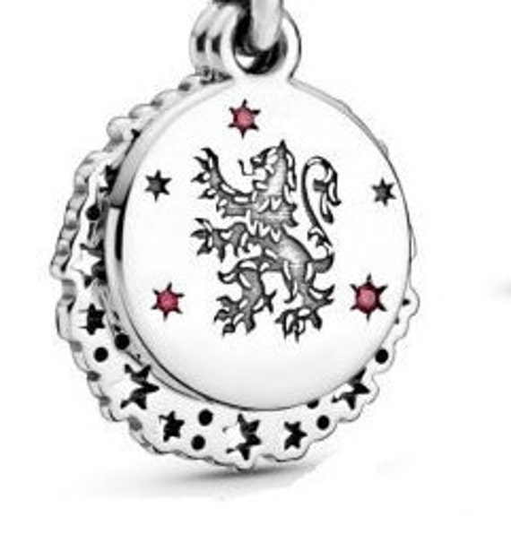 Gryffindor, HARRY POTTER, Pandora, Bracelet Charm, Roaring Lion, 925, 2019, Dangle, Courage, Determination, Bravery, Red CZ