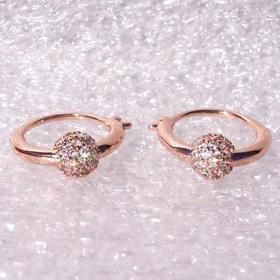 Purely Pave, Hoop Earrings, Pandora ROSE, Embellished, Stunning, Delicate, Unique, Dangle, Whimsy, Clear CZ, Fashionable, Rebellion Punk