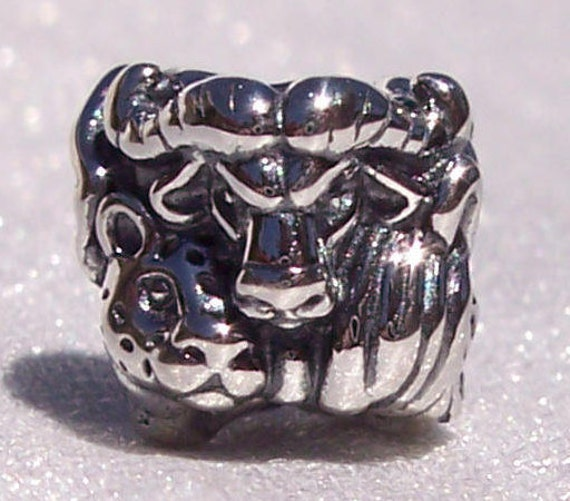 Safari, Pandora, Bracelet Charm, RETIRED, 925, Elephant, Leopard, Water Buffalo, Rhinoceros, East Africa, Travel Memories, Natural Habitat