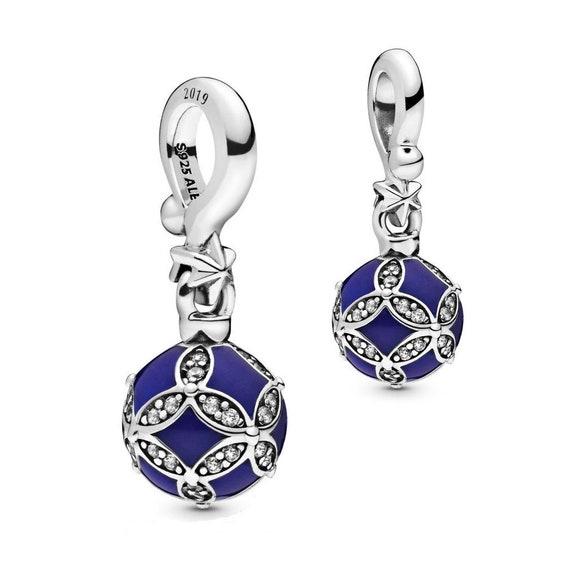 Blue Christmas, Ornament, Pandora, Bracelet Charm, Bright Ornament, 2019, Memento, Holiday, 925, Enamel, CZ, Limited Edition, Black Friday