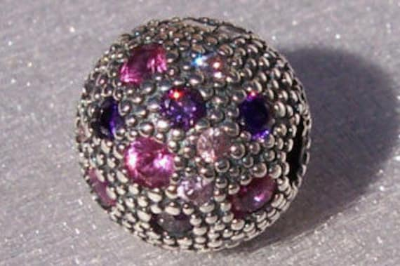 Cosmic Stars, Fancy Purple, Pandora, Bracelet Charm, RETIRED, CZ, 925, Pink, Purple, Clip Charm, Texture, Touch Of Color, Scattered,Universe