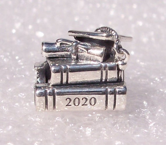 2020 Graduation,Book Charm,Pandora,Celebrate,Scholarly Achievement,Scroll,Tassel,925,College,High School,Congratulations, Personal Growth