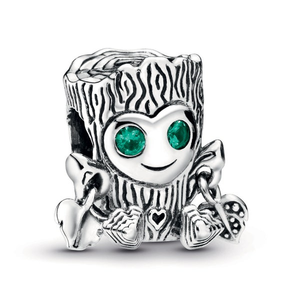 Sweet Tree Monster, Pandora, Bracelet Charm, Mischievous, Green CZ, Silver, Cute Smile, Magical Creature, Enchanted Forest, Autumn 2019