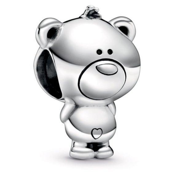 Theo Bear Charm, Pandora Friends, Bracelet Bead, Heart, Cute, Cuddly, Daydreamer, Teddy Bear, MeMes, 925, Gift Ideas