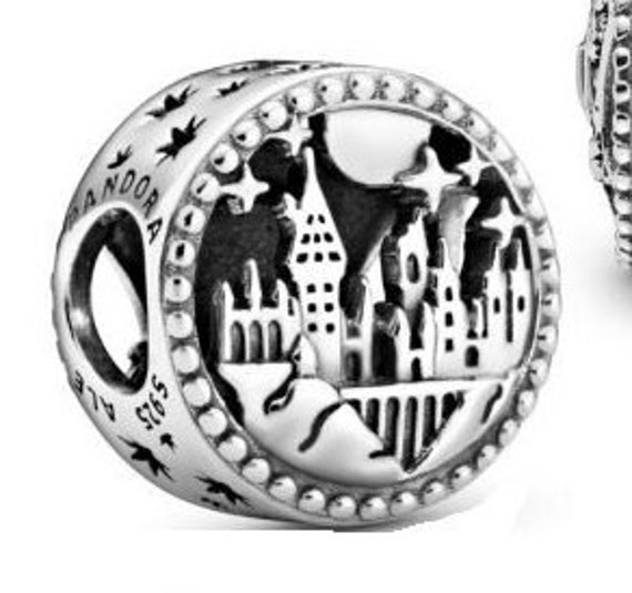 Hogwarts, School of Witchcraft, Wizardry, HARRY POTTER, Pandora, School Crest, Four Houses, Bracelet Charm, Cutout Stars, 925, 2019, Slider