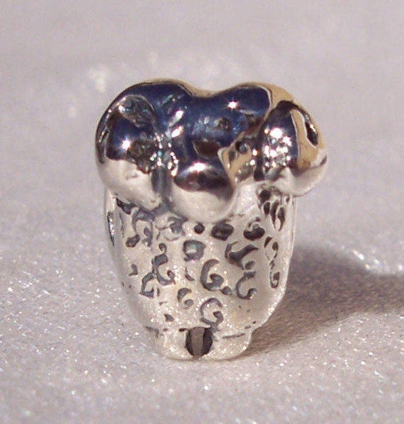 THE RAM Charm, Pandora, Bracelet Jewelry, Retired,RARE,Los Angeles Rams,Figural,Football Logo, Superbowl,Animal, Aries, Horns, Strength, 925