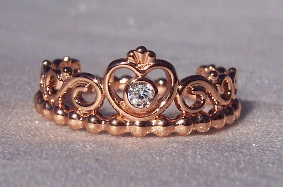 Pandora ROSE, My Princess Ring, Rose Gold, Clear CZ, Crown, 14K Gold Blend, Stunning, Special Girl, Prom, Graduation, Holidays