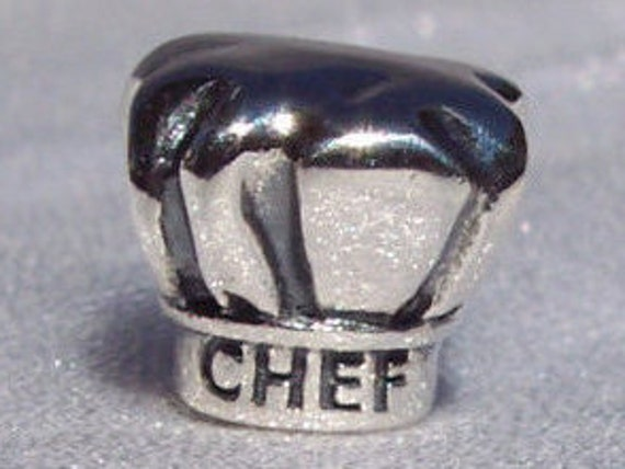 I Love Cooking, Chefs Hat, Pandora, Bracelet Charm, TOQUE, 16th Century, Silver, Culinary, Master Chef, Gourmet, Profession, Gordon Ramsey,