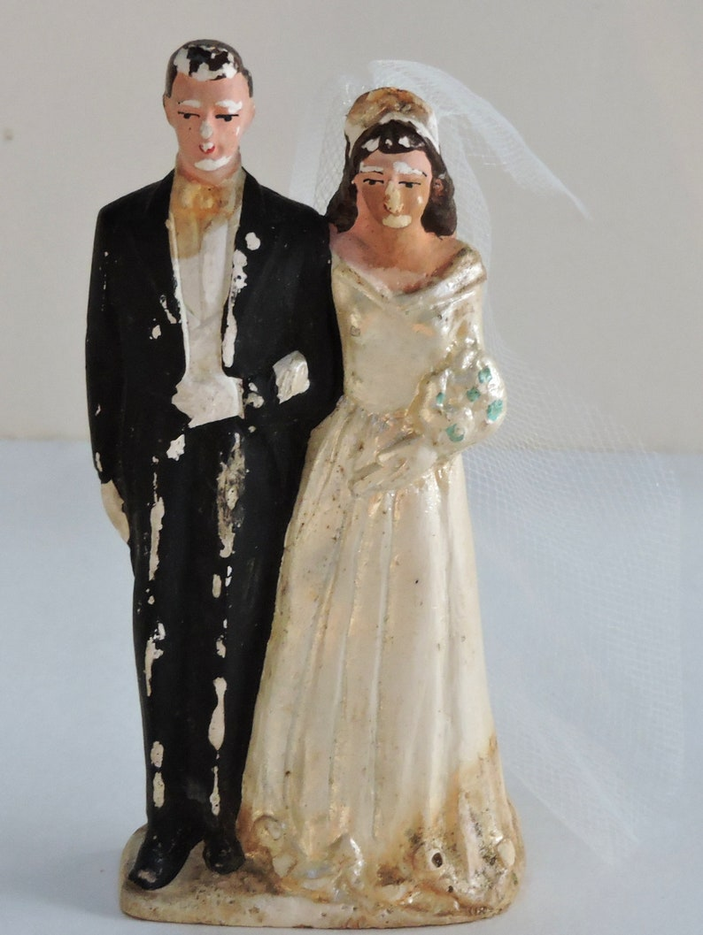6548215eb3 Vintage Wedding Cake Topper, Wedding Day,Romance,Bride,Groom,1920s. FREE  SHIPPING