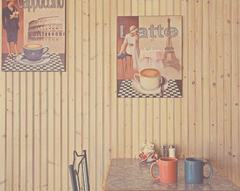 Cappuccino Art, Coffee Art, Tea Room Decor, Kitchen Decor, Shabby Chic Art, Gift For Her, Gift For Him, Gift For Tea Lover