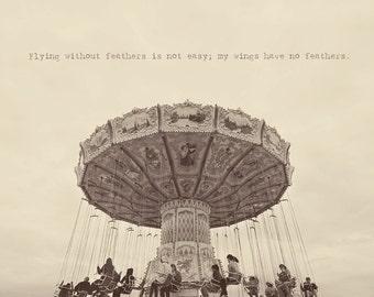 Carnival Rides, Carousel, Carousel Art, Carnival Photography, Vintage Photo, Whimsical Art Print, Bedroom Decor, Fine Art Photography