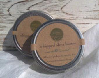Unscented Whipped Shea Butter - 2oz - Vegan, Fair Trade Body Butter, Coconut Oil