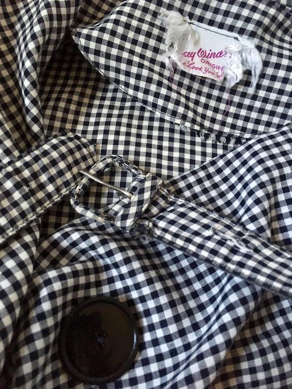 1950s Black & White Dress Shawl Collar/ Wrap arou… - image 7