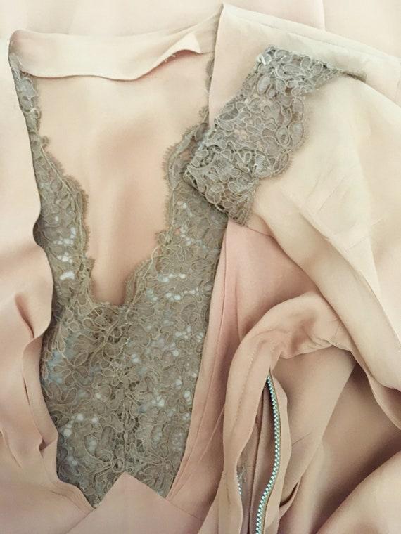 1940s Swing Era Lace Inset Dress - image 9