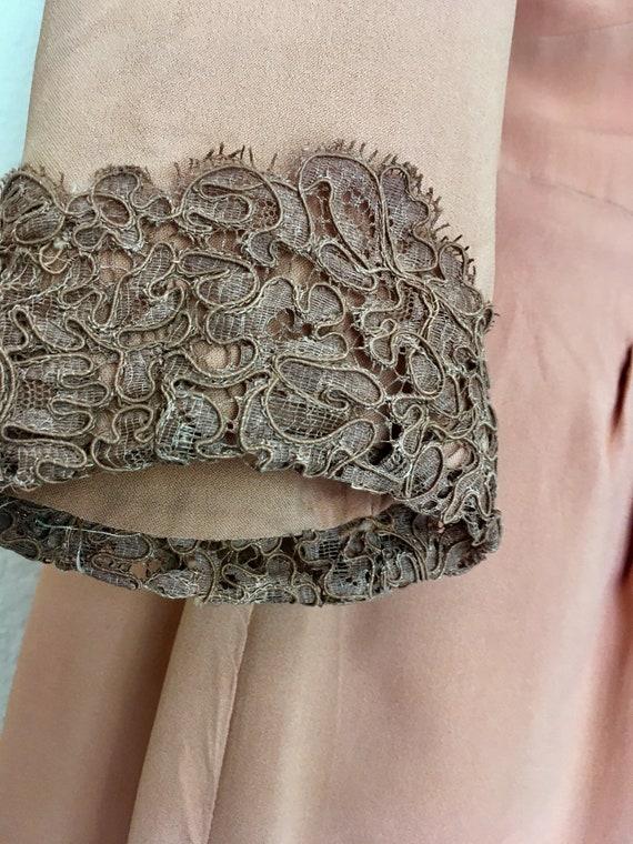1940s Swing Era Lace Inset Dress - image 7