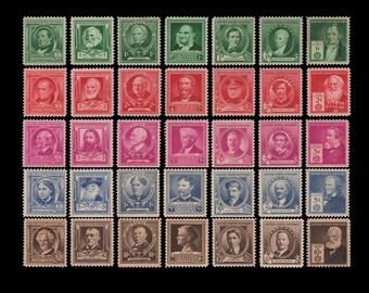 US 1940 Famous Americans Mint MNH Scott 859 393 75 Stamps